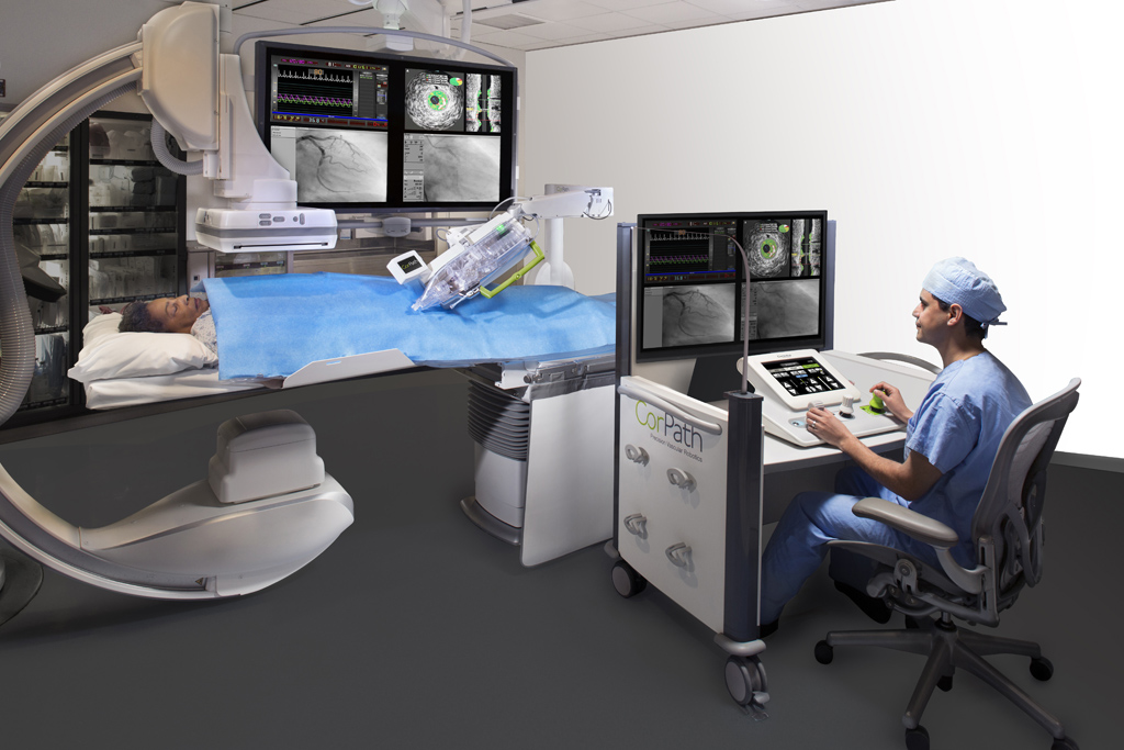 Image: The CorPath GRX system (Photo courtesy of Corindus).