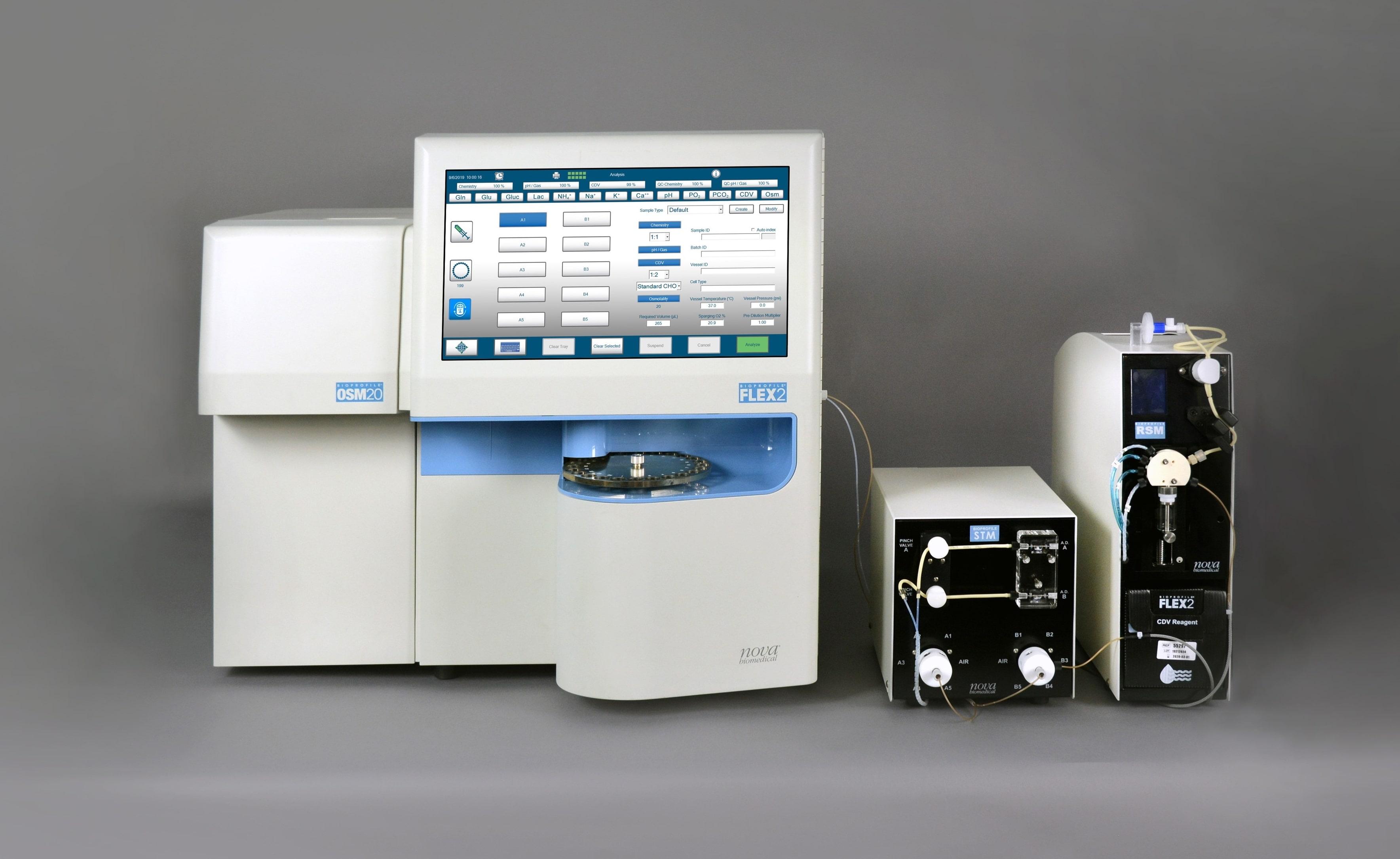 Image: BioProfile FLEX2 Cell Culture Analyzer (Photo courtesy of Nova Biomedical)