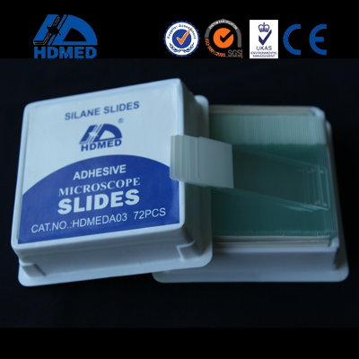 HDMED® Adhesive Microscope Slides, super white glass