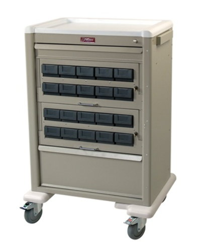 Universal Line Medication Cart with Locking Cassettes