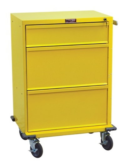 V-Series, Three Drawer Procedure Cart with Key Lock