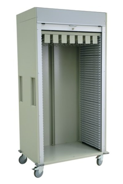 Medical Storage, Single Column Cart Preconfigured with Catheter Arms