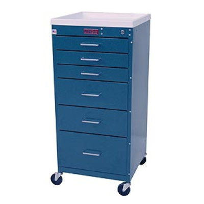 Six Drawer Mini Line Cart with Key Lock, Standard Package