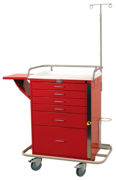 Classic Line, Six Drawer, Emergency Cart, Specialty Package