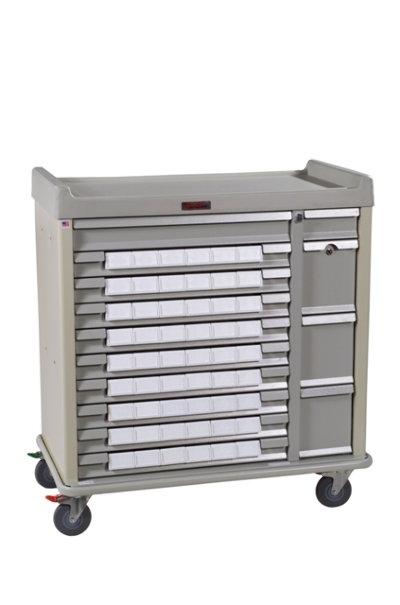 "Standard Line Med-Bin Cart with 54 – 3"" Bins Standard Package"