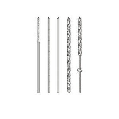Lines and Metallic Pins Smooth, Gauged and Threaded models for Bony Fixation